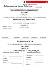 Zertifikat Berufsfeuerwehr Stadt Köln