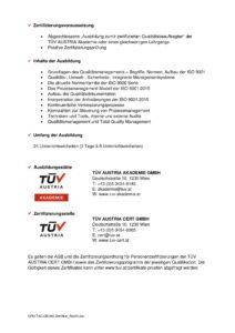 Zertifikat TÜV Austria Akademie, Seite 2