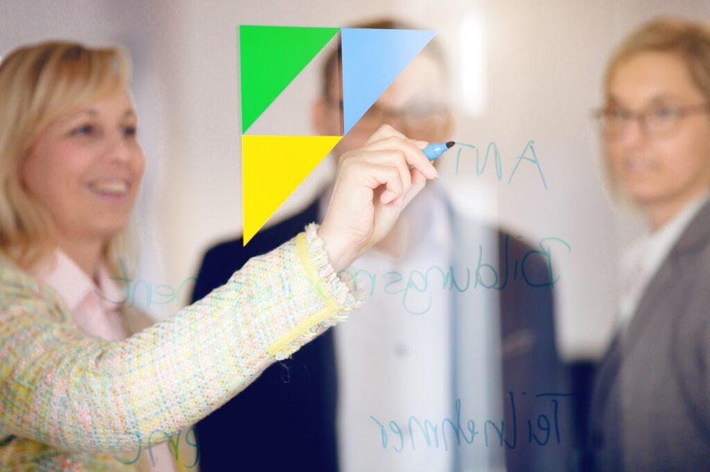 RR Software GmbH-Meeting an Glasscheibe