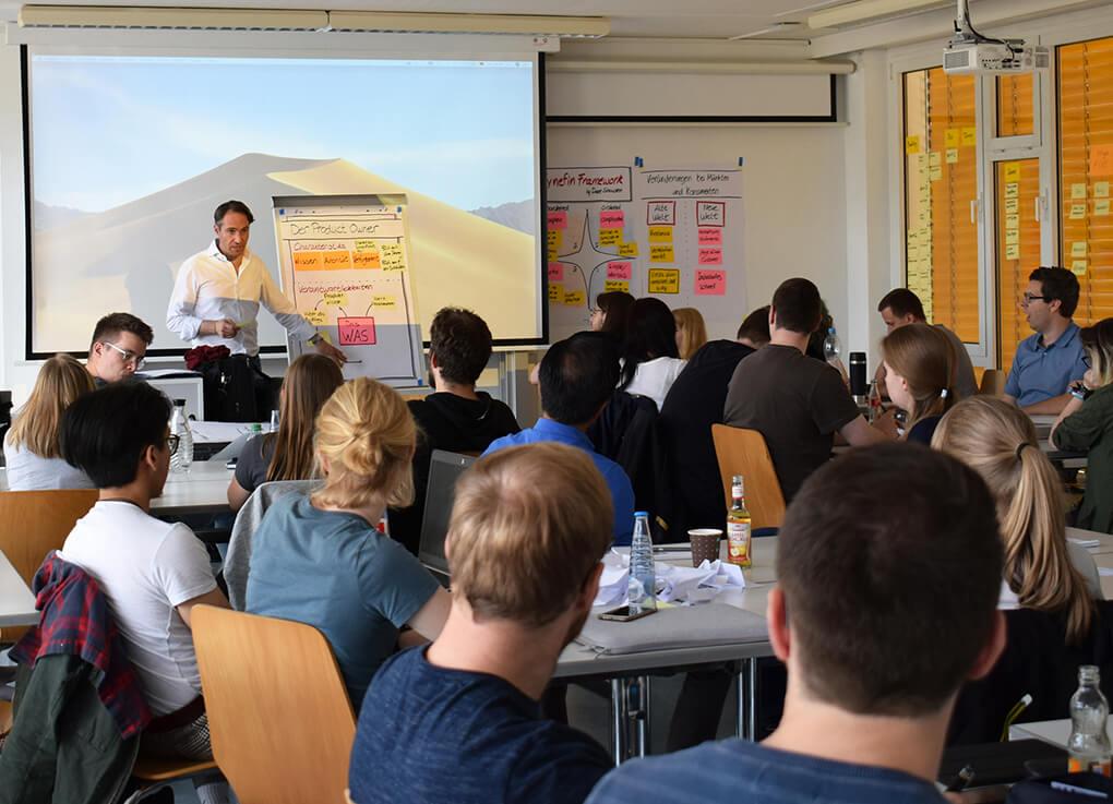 Scrum-Schulung an der Hochschule Harz - gesponsored von der RR Software GmbH