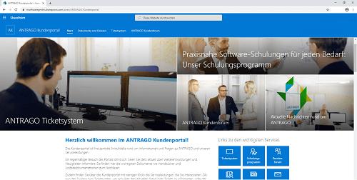 ANTRAGO Kundenportal Screenshot
