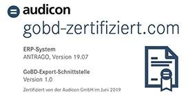 zertifizierte GoBD Export Schnittstelle-ANTRAGO