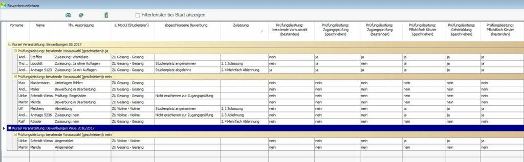 Variable Liste Bewerberverfahren