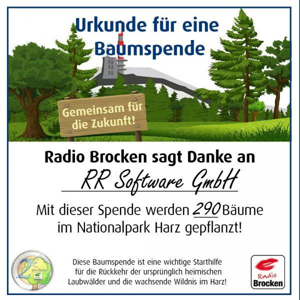 RR Software GmbH beteiligt sich an Baum-Schenken-Aktion
